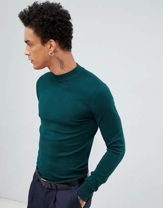 Gianni Feraud Premium Muscle Fit Stretch Turtleneck Fine Gauge Sweater