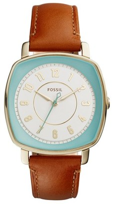 Women's Fossil 'Idealist' Leather Strap Watch, 38Mm $135 thestylecure.com
