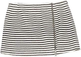 Bouchra Jarrar Black Cotton Skirt for Women