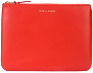 Comme des Garcons logo zipped pouch