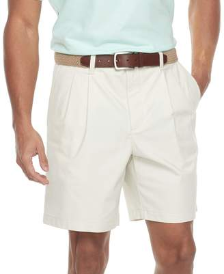Croft & Barrow Men's Classic-Fit Easy-Care Flex-Waist Stretch Pleated Shorts