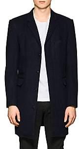 Brooklyn Tailors Men's Wool-Silk Top Coat-Navy