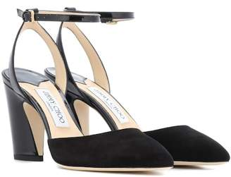 Jimmy Choo Micky 85 suede sandals