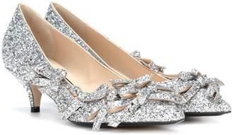 N°21 Embellished glitter pumps