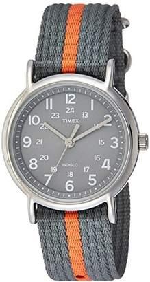 Timex Unisex T2N649 Weekender Nylon Slip-Thru Strap Watch
