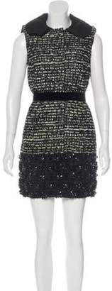 Giambattista Valli Bead-Embellished Shift Dress Black Bead-Embellished Shift Dress