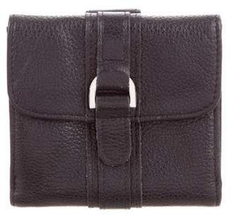 Longchamp Grained Leather Compact Wallet