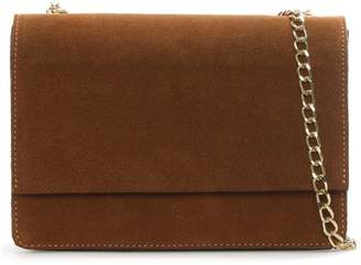 Daniel Milla Tan Suede Chain Shoulder Bag
