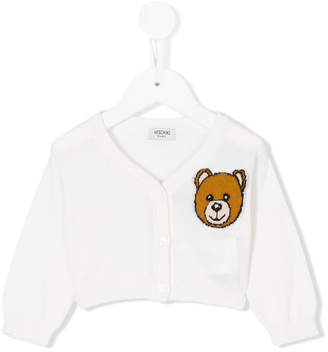 Moschino Kids Teddy Bear embroidered cardigan