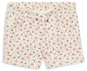 Ralph Lauren Childrenswear Baby Girl's Floral-Print Mesh Shorts