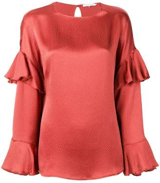 L'Autre Chose flutter sleeve detailed blouse