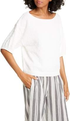 Joie Textured Dot Cotton Sweater