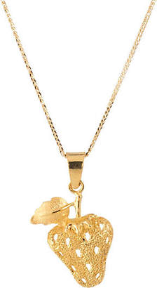 One Kings Lane Vintage 24k Gold Strawberry Pendant Necklace - Precious & Rare Pieces