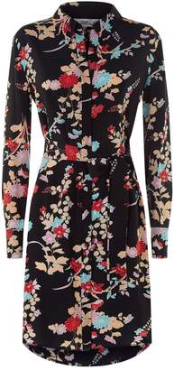 Diane von Furstenberg Floral Mini Shirt Dress