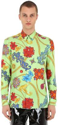 Versace Jewelry Printed Silk Twill Shirt
