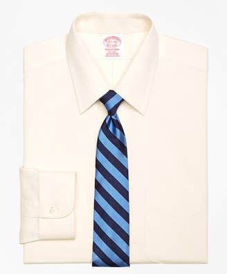 Brooks Brothers Traditional Relaxed-Fit Dress Shirt, Non-Iron Point Collar