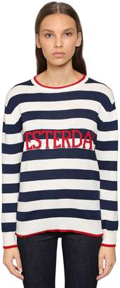 Alberta Ferretti (アルベルタ フェレッティ) - ALBERTA FERRETTI YESTERDAY オーバーサイズ コットンスウェットシャツ