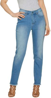 Women With Control Women with Control Regular My Wonder Denim Frayed Ankle Jeans