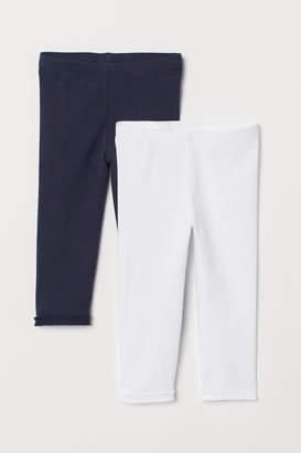 H&M 2-pack 3/4-length leggings