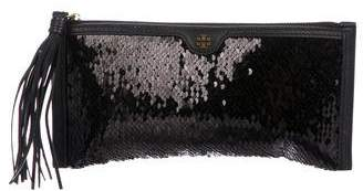 Tory Burch Sequin Tassel Clutch