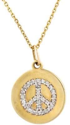 KC Designs 14K Diamond Peace Sign Pendant Necklace