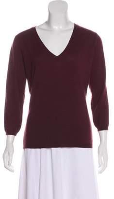 Celine Cashmere Knit Top Purple Cashmere Knit Top