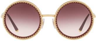 Dolce & Gabbana Round Scallop Sunglasses
