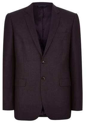 Topman Mens CHARLIE CASELY-HAYFORD X Navy Red Birdseye Suit Jacket