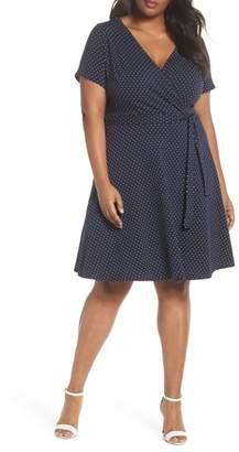 Dorothy Perkins Spot Fit & Flare Wrap Dress