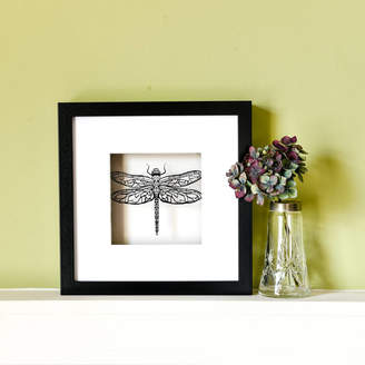 For Me & For You Designs Framed Paper Cut Dragonfly