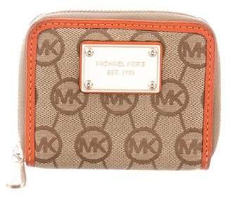 Michael Kors Monogram Compact Wallet