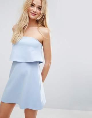 ASOS Scuba Bandeau Crop Top Mini Dress $43 thestylecure.com