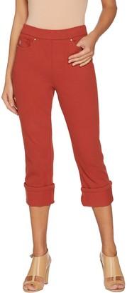Belle By Kim Gravel Belle by Kim Gravel Flexibelle Pull-On Cuffed Capri Jeans