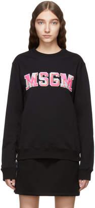 MSGM Black Logo Patch Sweatshirt