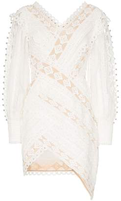 Zimmermann Moncure lace detail studded mini dress