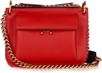 Marni Trunk bi-colour leather cross-body bag