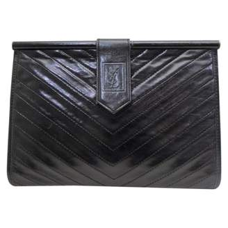 Saint Laurent Vintage Black Patent leather Clutch Bag