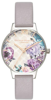 Olivia Burton Glass House Leather-Strap Watch