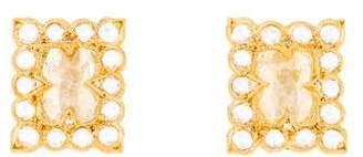 Cathy Waterman 22K Diamond Stud Earrings