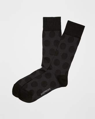 Express Shadow Polka Dot Dress Socks