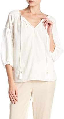 Laundry by Shelli Segal Embroidered Top With Raglan Sleeve