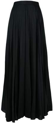 The Row long pleated skirt