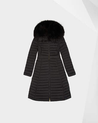 Hunter Women's Refined Down Coat With Faux Fur Hood