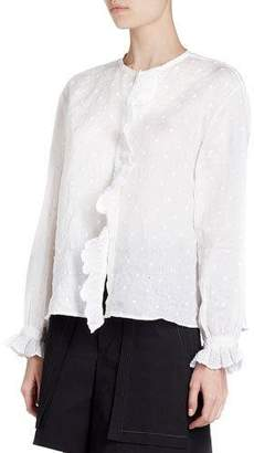Isabel Marant Namos Long-Sleeve Embroidered Gauze Top