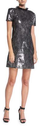 MICHAEL Michael Kors Sequined Lace Cocktail Dress