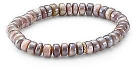 Sydney Evan Women's 14K Yellow Gold & Diamond Bead Moonstone Rondelle Bracelet