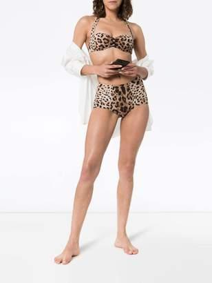 Dolce & Gabbana leopard print bikini bottoms