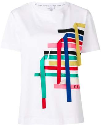 Escada Sport ribbon embellishment T-shirt