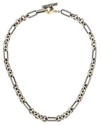 David Yurman Two-Tone Figaro Chain Necklace