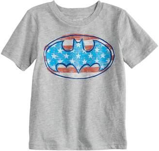 Justice Baby Boy Jumping Beans DC Comics Batman Logo Patriotic Graphic Tee